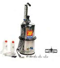 Устройство для прокачки тормозов и сцеплений 10 л из нержавеющей стали Meclube 080-1790-000