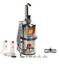 Устройство для прокачки тормозов и сцеплений 10 л из нержавеющей стали Meclube 080-1792-000