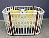 Овальная кроватка детская Incanto Nuvola LUX белый/стойкий бук