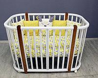 Овальная кроватка детская Incanto Nuvola LUX белый/стойкий бук, фото 1