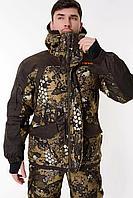 Костюм зимний для охоты и рыбалки Triton GORKA -40°C ПК (алова, бежевый), размер 56-58