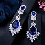"Серьги ""Султан Ахмет"" с синими кристаллами, фото 5"