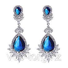 "Серьги ""Султан Ахмет"" с синими кристаллами"