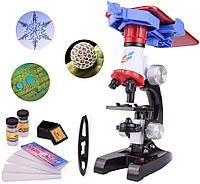 Микроскоп детский с держателем для телефона 100x-400x-1200x