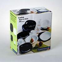 Столовый сервиз Luminarc Carine Black & White (30 предметов)