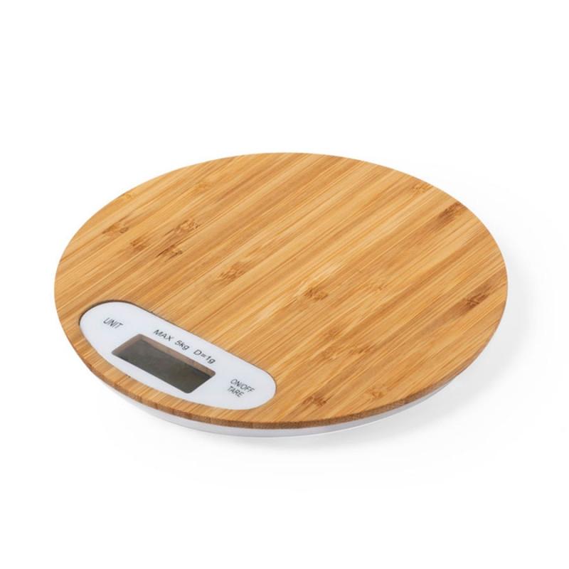 Весы настольные HINFEX, бамбук, коричневый, , 346514