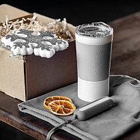 Набор ACTIONLIFE: термокружка, шапка, украшение, зарядное устройство, коробка, серый, Серый, -, 35029 30