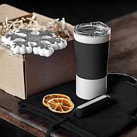 Набор ACTIONLIFE: термокружка, шапка, украшение, зарядное устройство, коробка, черный, Черный, -, 35029 35