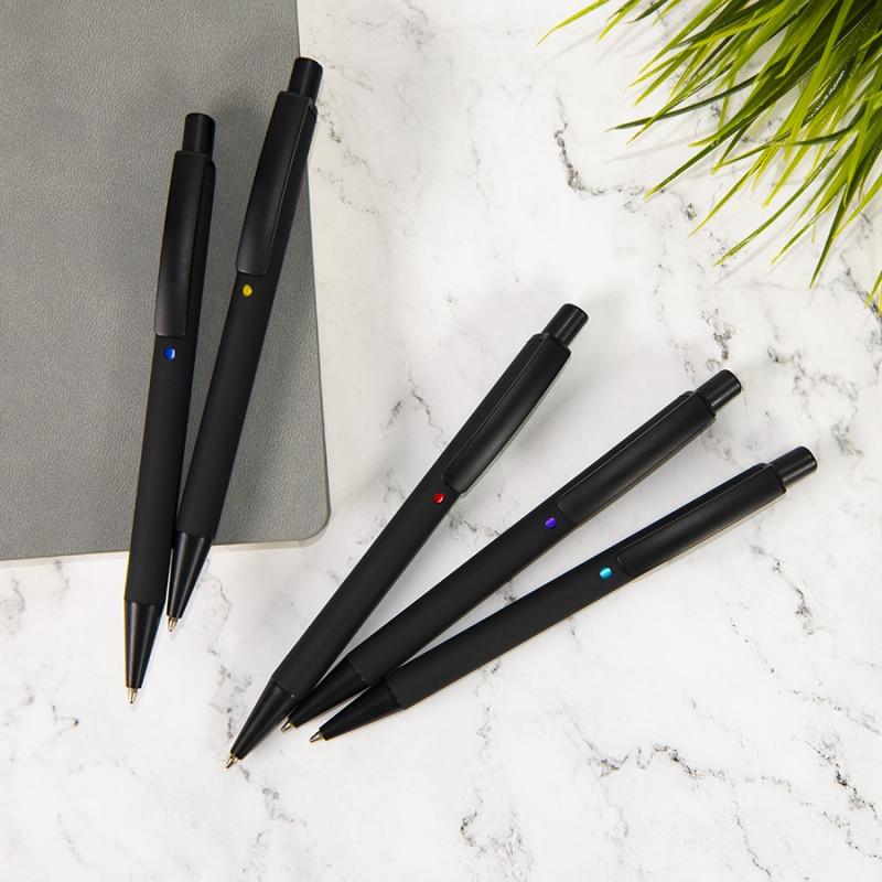Ручка шариковая ENIGMA, металл, софт-покрытие, Черный, -, 40501 35 47 - фото 4