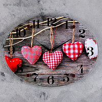 """Часы настенные, серия: Интерьер, """"Сердца"""", 35х46 см микс"""