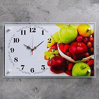 """Часы настенные, серия: Кухня, """"Фруктовая ваза"""", 36х60 см, микс"""