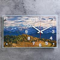 """Часы настенные, серия: Природа, """"Умиротворение в горах"""", 36х60 см"""
