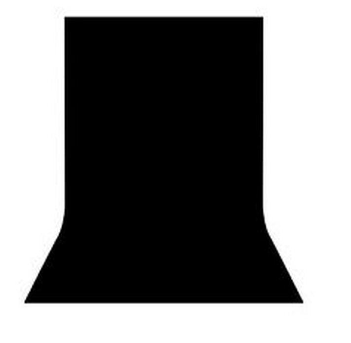 Студийный тканевый черный фон 4 м × 2,3 м - фото 1