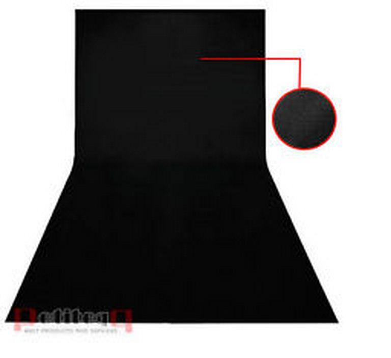 Студийный тканевый черный фон 4 м × 2,3 м - фото 2