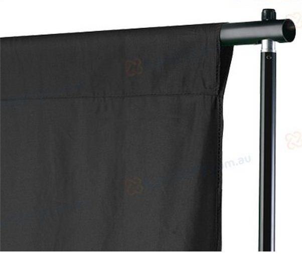 Студийный тканевый черный фон 4 м × 2,3 м - фото 4