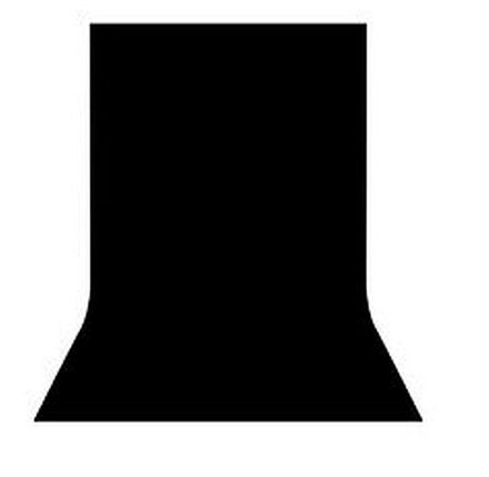 Студийный тканевый черный фон 1 м × 2,3 м, фото 2