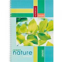 Тетрадь общая на спирали Attache Green Nature, А4, 96 л., обложка мелованный картон, клетка