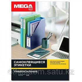 Наклейки MEGA LABEL 48,5x19 мм, 60 шт на А4, 100 листов