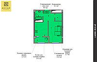 1 комнатная квартира в ЖК  Ансар 40.4 м², фото 1