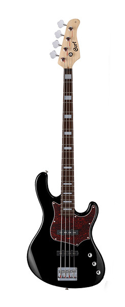 Бас-гитара, черная, Cort GB34JJ-BK GB Series