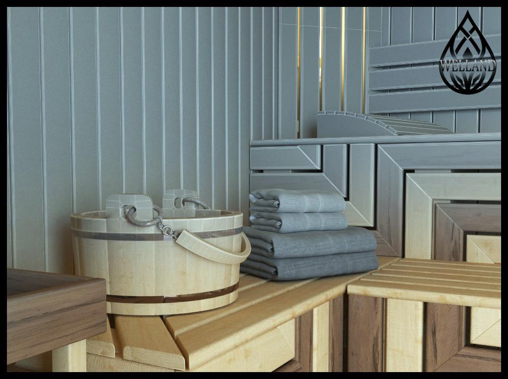 3D визуализация русских бань