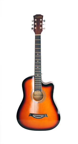 Акустическая гитара, с вырезом, санберст, Fante FT-D38-3TS