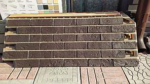 Фасадные панели 420x1000 мм VOX Vilo Brick DARK BROWN (Кирпич) Темно-коричневый с швами