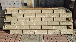 """Фасадные панели 420x1000 мм VOX Vilo Brick """"Ivory"""" (Кирпич) """"Слоновая Кость""""с швами"""