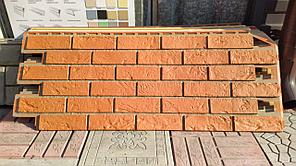 Фасадные панели 420x1000 мм VOX Vilo Brick Marron (Кирпич) Маррон с швами