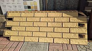 """Фасадные панели 420x1000 мм VOX Vilo Brick """"Sand"""" (Кирпич) """"Песочный""""с швами"""