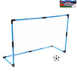 Ворота футбольные «Весёлый футбол», сетка, мяч d=14 см, размер ворот 98х34х64 см, фото 2