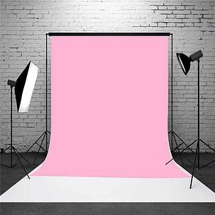 Розовый  фон 5х2.3 м Студийный, тканевый, фото 2