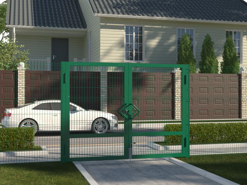 Распашные ворота со стальной рамой DoorHan ЗD