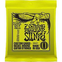 Комплект cтрун для 7-струнной электрогитары, никель, 10-56, Ernie Ball P02621 Regular Slinky