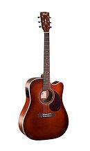 Электро-акустическая гитара, с вырезом, коричневая, Cort MR500E-BR MR Series