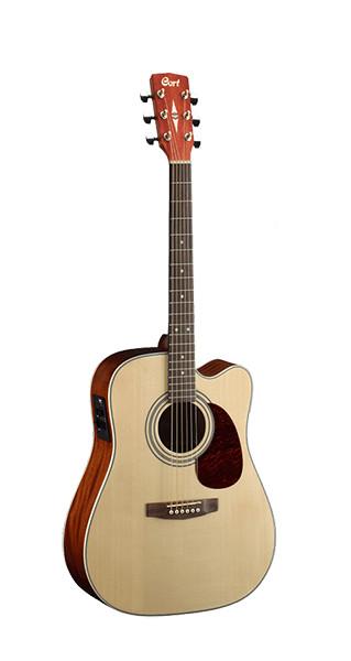 Электро-акустическая гитара, с вырезом, цвет натуральный глянцевый, Cort MR500E-NT MR Series