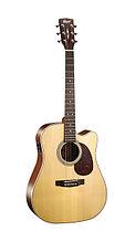 Электро-акустическая гитара, с вырезом, цвет натуральный матовый, Cort MR600F-NS MR Series