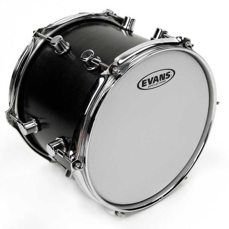 Пластик для малого, том и тимбалес барабана 12'', с покрытием, Еvans B12G2 G2 Coated
