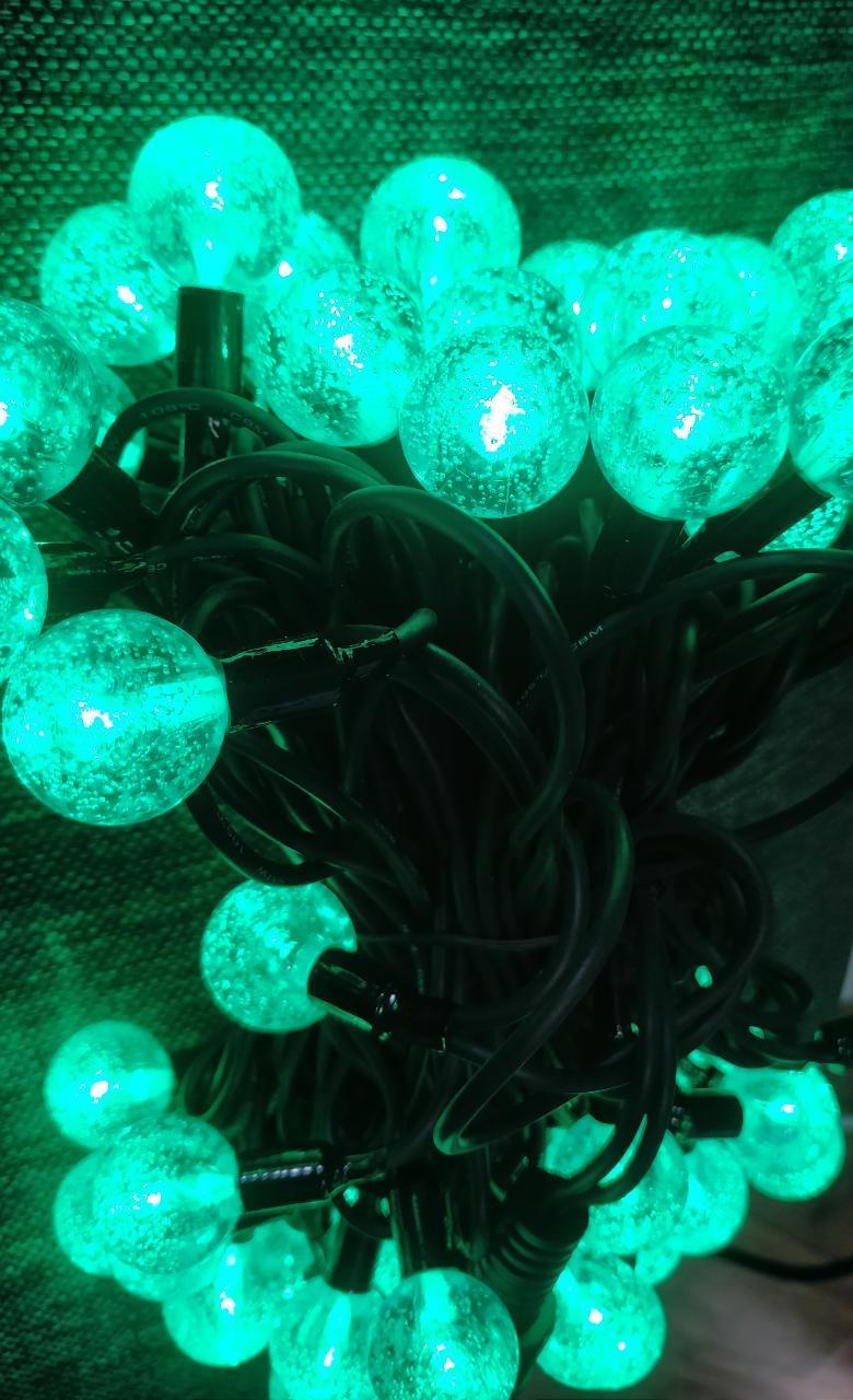 """Гирлянда уличная """"Льдинка"""", зеленый цвет, 10м"""
