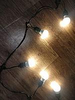 """Гирлянда уличная """"Лампочки"""", свисающая, черная, 10м, фото 1"""
