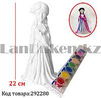 Набор для детского творчества копилка раскраска Принцесса, кисточка и краски 8 цветов D104