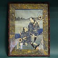 Японская гравюра «Актеры»