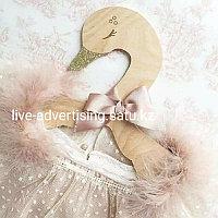 Деревянная вешалка для детской одежды в виде лебедя 5шт