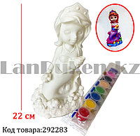 Набор для детского творчества копилка раскраска Принцесса Русалочка, кисточка и краски 8 цветов