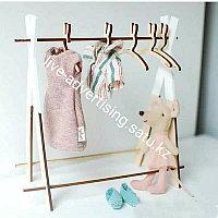 Вешалка для одежды из дерева с милым Кроликом 5шт