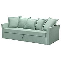 3-местный диван-кровать ХОЛЬМСУНД Нордвалла светло-зеленый ИКЕА, IKEA