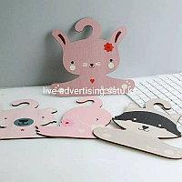 Деревянная вешалка в виде лебедя кота и кролика, вешалка для одежды, милые вешалки для хранения детской одежды