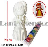 Набор для детского творчества копилка раскраска Девочка Божья коровка, кисточка и краски 8 цветов