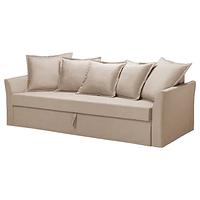 3-местный диван-кровать, ХОЛЬМСУНД, Нордвалла темно-бежевый, ИКЕА, IKEA