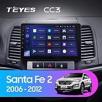 Автомагнитола Teyes CC3 3GB/32GB для Hyundai Santa Fe 2 2006-2012